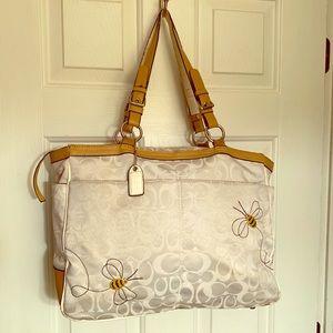 FAUX Coach Bumblebee 🐝 Large Zip Shoulder Bag